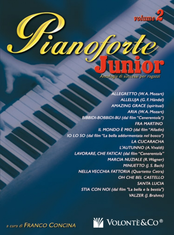 Cubierta de Pianoforte Junior Vol.2, de Franco Concina
