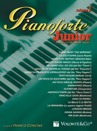 Cubierta de Pianoforte Junior Vol.1, de Franco Concina