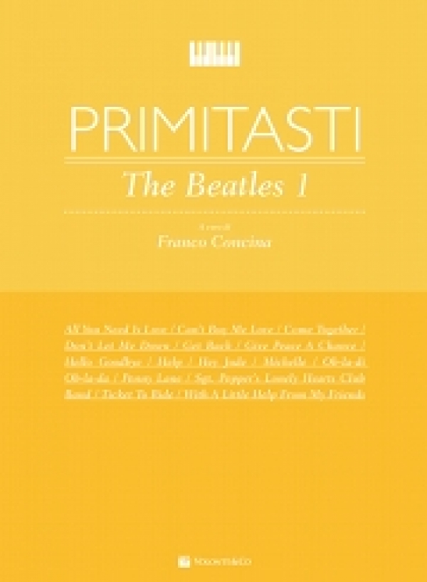 Cubierta de Primi Tasti -The Beatles - Vol. 1, de Franco Concina