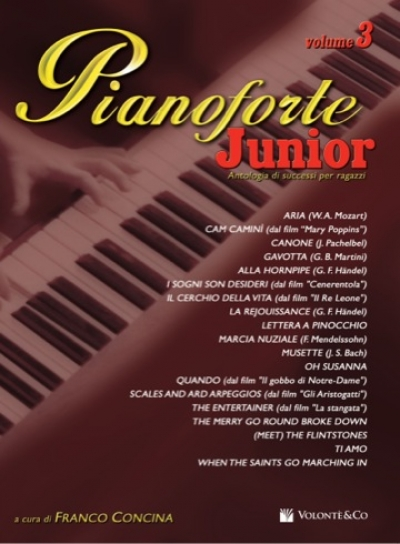 Cubierta de Pianoforte Junior Vol.3, de Franco Concina