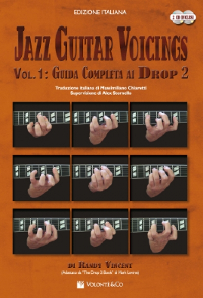 Copertina di Jazz Guitar Voicings Vol. 1 Guida completa ai drop 2 , di Randy Vincent