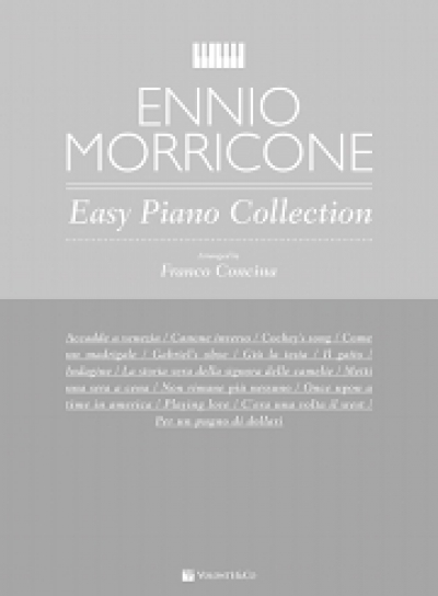 Cubierta de Primi Tasti Ennio Morricone – easy Piano Collection, de Franco Concina