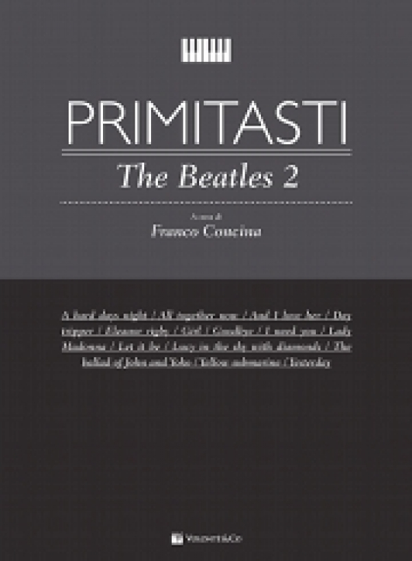 Cubierta de Primi Tasti The Beatles Vol. 2, de Franco Concina